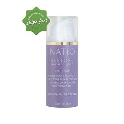 NATIO RESTORE MATURE SKIN EYE SERUM 30ML (Special buy online only)