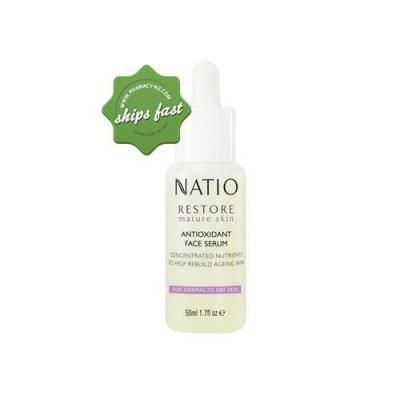 NATIO RESTORE MATURE SKIN ANTIOXIDANT FACE SERUM 50ML (Special buy online only)