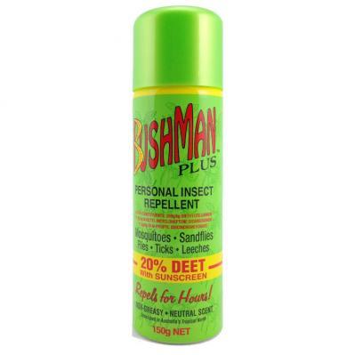Bushman Plus Personal Insect Repellent Aerosol 20 Percent 150g