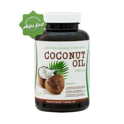 NHT CERTIFIED ORGANIC EXTRA VIRGIN COCONUT OIL 1000MG 120 CAPSULES
