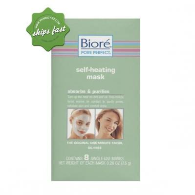 BIORE SELF HEATING ONE MINUTE MASK 4 PACK (Special buy online only)