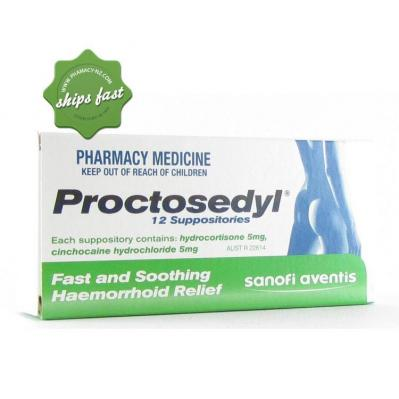 PROCTOSEDYL SUPPOSITORIES 12