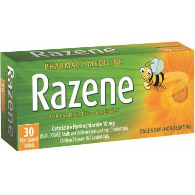Razene Allergy Relief 10mg 30 Tablets