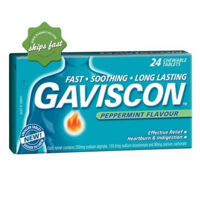 GAVISCON PEPPERMINT TABLETS 24