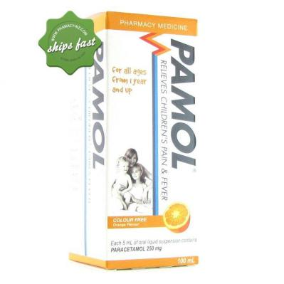PAMOL ALL AGES COLOUR FREE 250MG 200ML