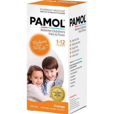 Pamol Liquid Orange 200ml