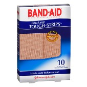 BANDAID TOUGH STRIPS 10 EXTRA LARGE