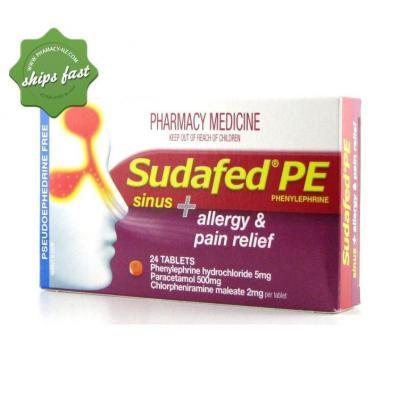 SUDAFED PE SINUS ALLERGY PAIN 24