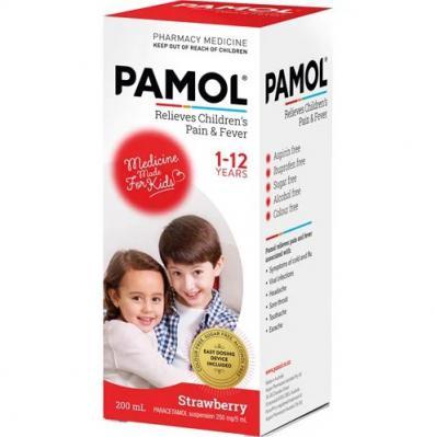 Pamol Liquid Strawberry 200ml