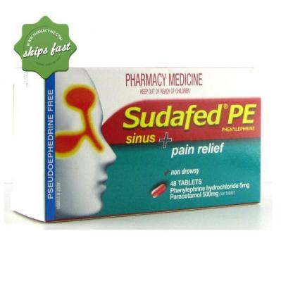 SUDAFED PE SINUS PAIN TAB 48