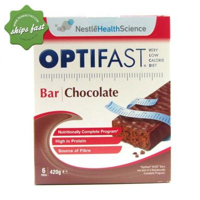 OPTIFAST CHOCOLATE BARS 6 PACK
