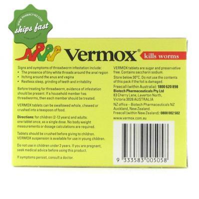 VERMOX TABS 4