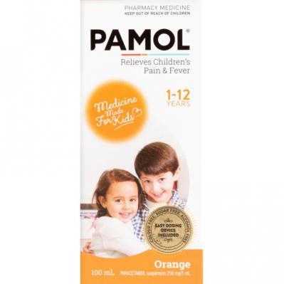 Pamol Liquid Orange 100ml