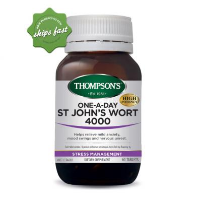 THOMPSONS 1 A DAY ST JOHNS WORT 4000 60 TABLETS