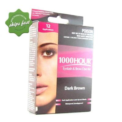 1000 HOUR EYELASH AND BROW DYE DARK BROWN