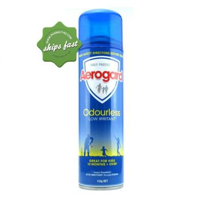 AEROGARD ODOURLESS INSECT LOW IRRITANT REPELLENT AEROSOL 150ML