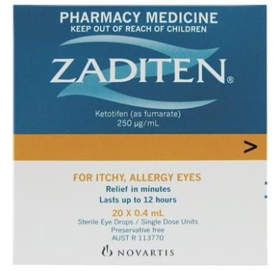 Zaditen Eye Drops 20x0.4ml