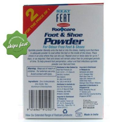 NEAT FEAT SHOE POWDER 2 FOR 1