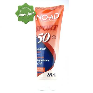 NO AD SPF 50 SPORT SUNSCREEN 250ML (Special buy online only)