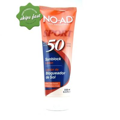 NO AD SPF 50 SPORT SUNSCREEN 250ML