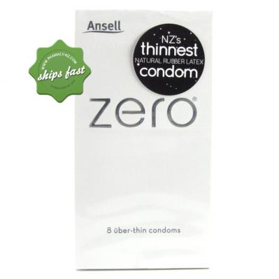 ANSELL ZERO CONDOMS 8S