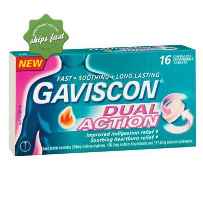 GAVISCO DUAL ACT TAB 16