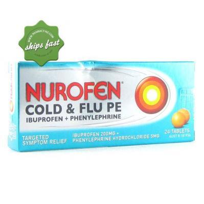 NUROFEN PE COLD FLU TABLETS 24s