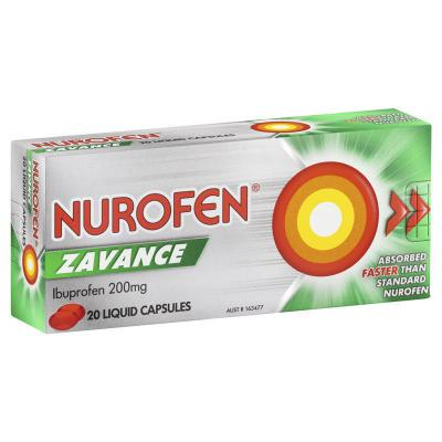 Nurofen Zavance Liquid Capsules 20