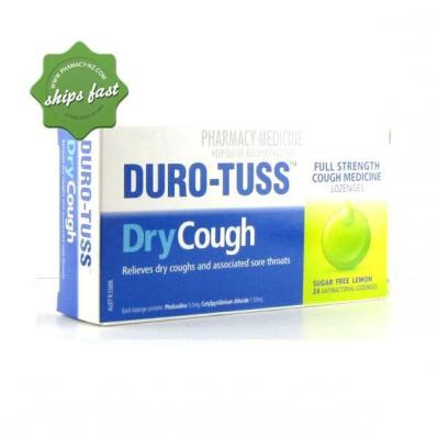 DURO TUSS CHESTY SUGAR FREE LOZENGES 24 LEMON