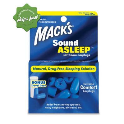 MACKS SOUNDASLEEP EARPLUGS X 12