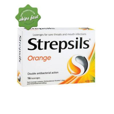 STREPSILS LOZENGES ORANGE 16s