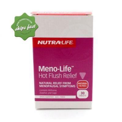 NUTRALIFE MENO LIFE HOT FLUSH RELIEF 30T