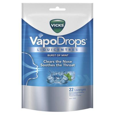 Vicks Vapodrops Mint Liquicentres 22