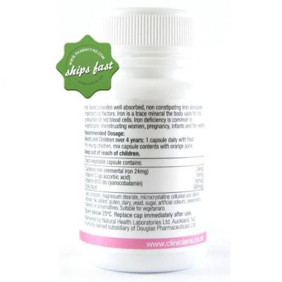 CLINICIANS IRON BOOST CAPSULES 30