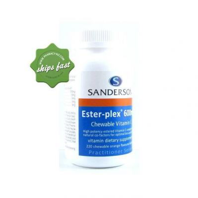 SANDERSON ESTER PLEX C 600MG 220 CHEWABLE VITAMIN C TABLETS