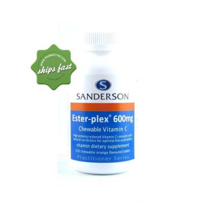 Sanderson Esterplex C 600mg 220 Chewable Vitamin C Tablets
