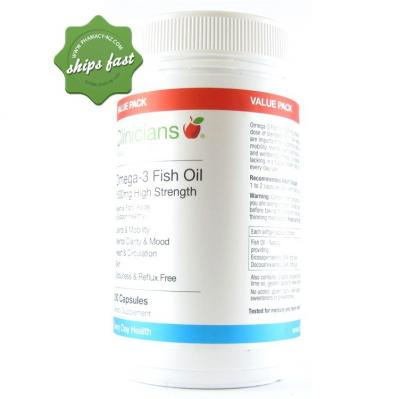 CLINICIANS OMEGA 3 FISH OIL 1500MG HIGH STRENGTH 200s