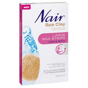 Nair Brazilian Spa Clay Large Wax Strips 20 Pack