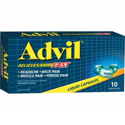 Advil Liquid Capsules 10