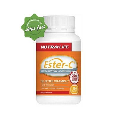 NUTRALIFE ESTER C 1000MG WITH VITDAMIN 3 PLUS BIOFLAVONOIDS 100 TABLETS