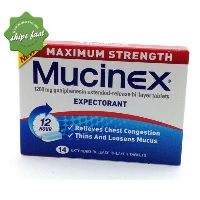 MUCINEX DM MAXIMUM STRENGTH 1200MG 14s