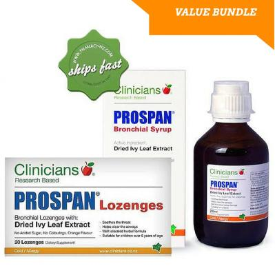 CLINICIANS PROSPAN 200ML SYRUP AND 20 LOZENGES