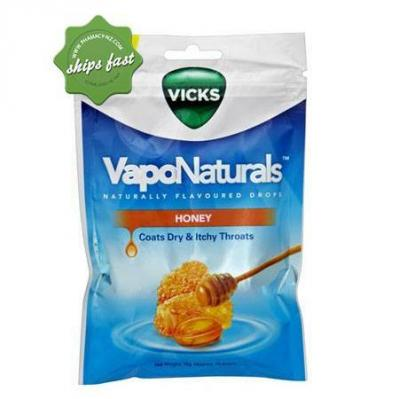 VICKS VAPONATURALS NATURALLY FLAVOURED DROPS HONEY 19S