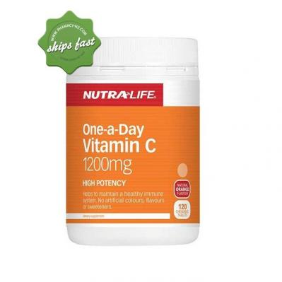 NUTRALIFE ONE A DAY VITAMIN C 1200MG 120 CHEWABLE TABLETS
