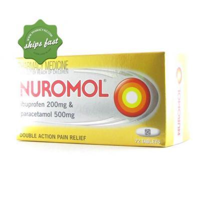 NUROMOL IBUPROFEN PARACETAMOL DOUBLE ACTION PAIN RELIEF 72s