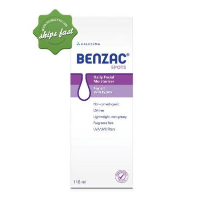 BENZAC DAILY FACIAL MOISTURISER 118ML (Special buy online only)