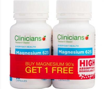 Clinicians Magnesium 625 90 Capsules 1+1
