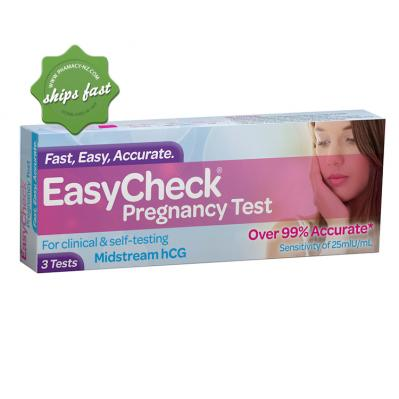EASYCHECK PREGNANCY TEST MIDSTREAM HCG 3 TESTS