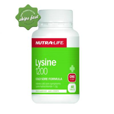 NUTRALIFE LYSINE 1200 ONE A DAY 60 TABLETS