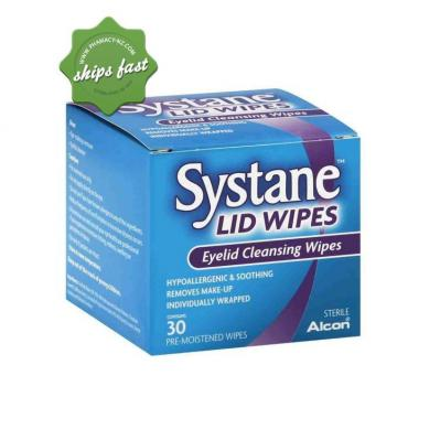 SYSTANE LID WIPES EYELID CLEANSING WIPES 30 OREMISTENED WIPES